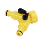 Hose joiner 2 way splitter twin quick fit 3/4'' female tap Connector Adaptor