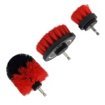3pc Electric Drill Brush Attachment Set Power Scrubber Car Wheel Carpet Cleaning