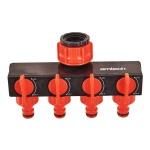 4 Way Tap Connector Garden Manifold Hose Pipe Spliter Adapter Water Faucet